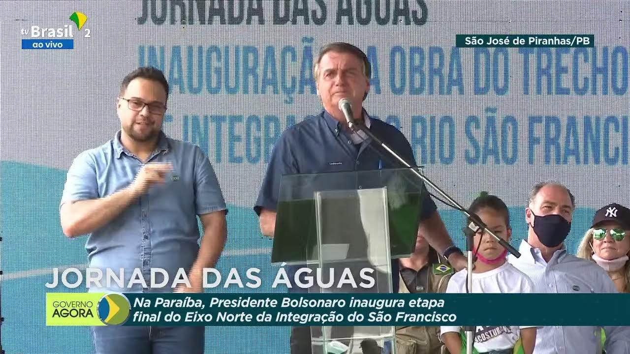 Presidente Bolsonaro inaugura obras de integração do São Francisco na cidade de São José de Piranhas