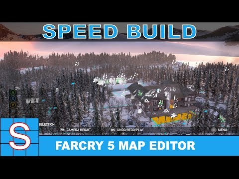 FARCRY 5 Map Editor Speed Build | Alpine Trench War (Part 1: Build)