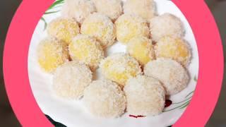 Coconut Laduu Recipe | Narial k Laduu | Truffles with condensed milk 🍶| Multi Guru