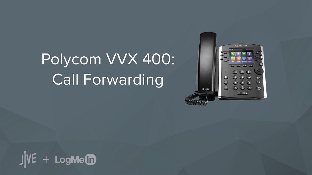 Polycom VVX 400 -- How do I set up call forwarding? - YouTube
