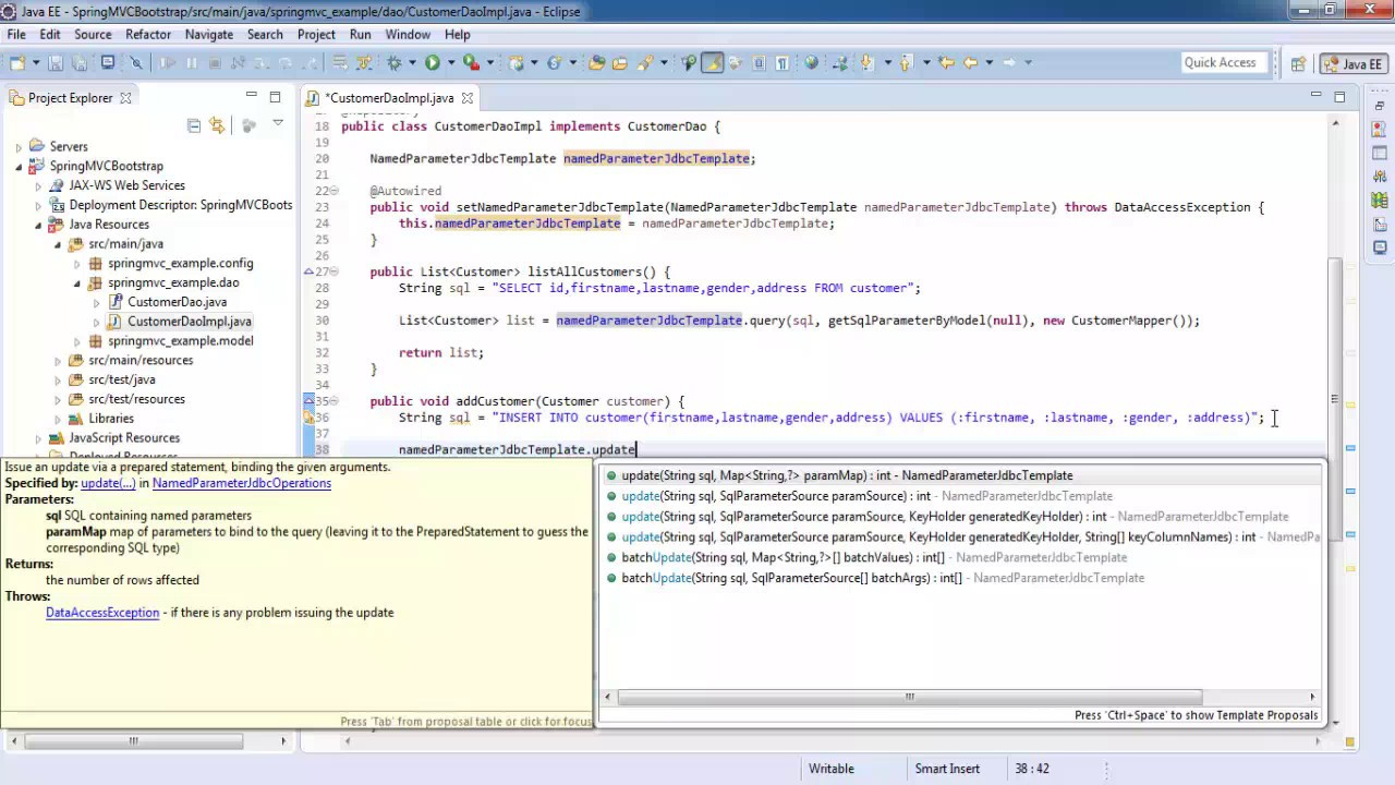 spring 4 mvc example without maven example