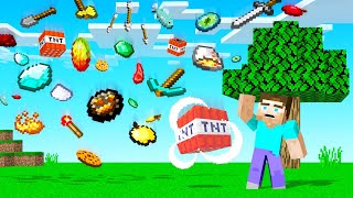 MINECRAFT But It Is RAINING ITEMS! (so lucky)