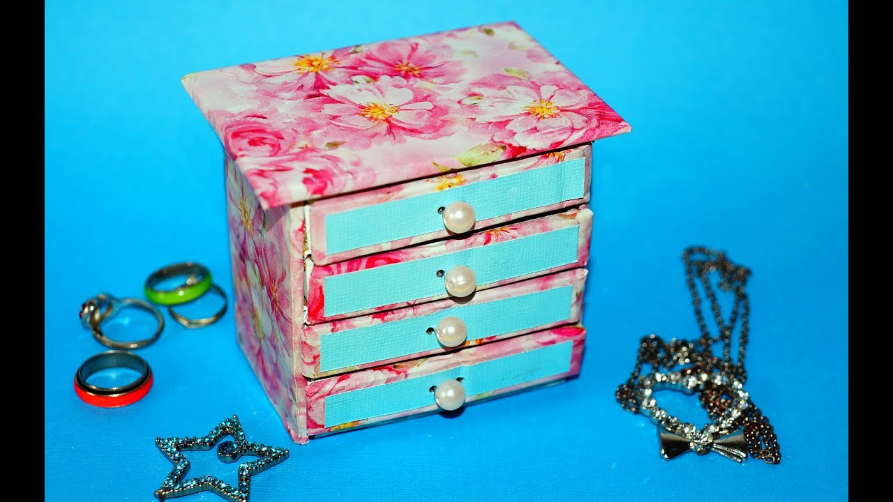 Hand Made Matchbox Craft Easy Jewelry box making tutorial Julia