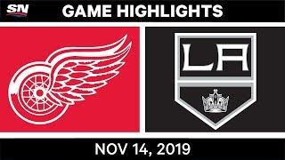 NHL Highlights   Red Wings vs Kings – Nov. 14, 2019