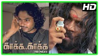 Gambar cover Kaaka Kaaka movie scenes | Yog Japee  | Jeevan warns Suriya | Jyothika