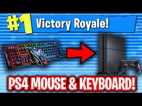 USING MOUSE & KEYBOARD ON PS4 FORTNITE! (NO CONTROLLER)