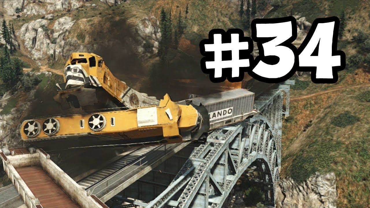 Grand Theft Auto 5 Part 34 Walkthrough Gameplay - Derailed