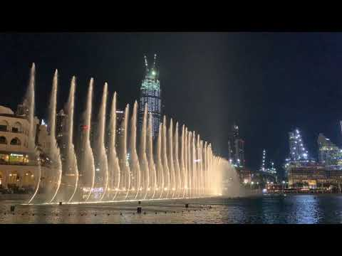 """I'll Never Love Again"" by Lady Gaga at Dubai Dancing Fountain"