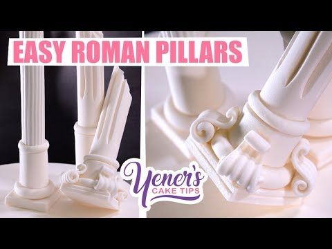 EASY Sugar ROMAN PILLARS Tutorial | Yeners Cake Tips with Serdar Yener from Yeners Way