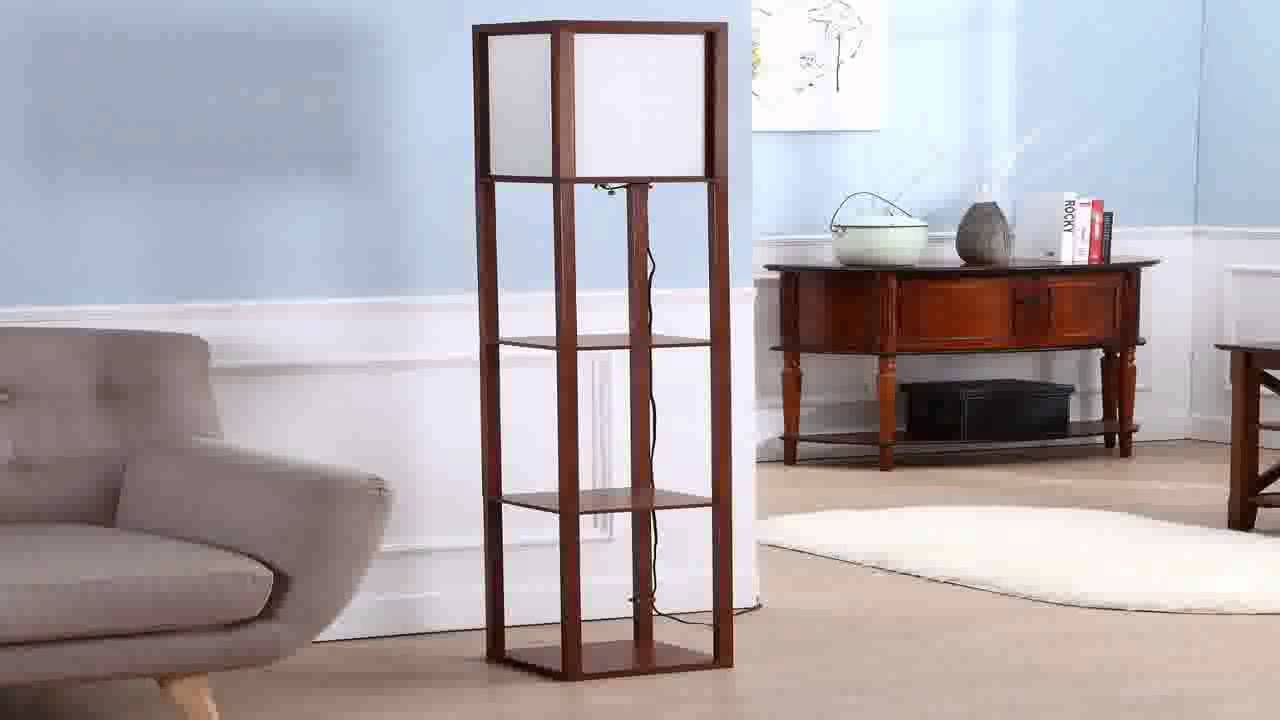 c5d2050065c7d Brightech Maxwell Shelf Floor Lamp Modern Mood Lighting for your Living Roo  - YouTube