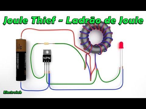 Joule Thief ou  Ladrão de Joule - O que é e como funciona!