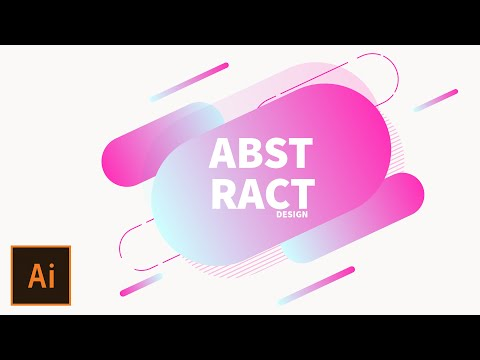 Create simple abstract background vector in illustrator | ai tutorial | abstract design