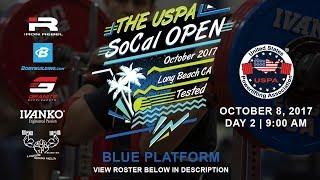 The USPA SoCal Open | Day 2 Blue Platform | Powerlifting Meet