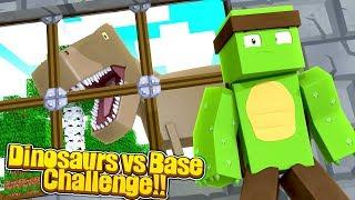 Minecraft DINOSAURS VS BASE CHALLENGE - w/TinyTurtle