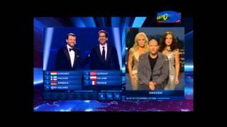 Голосование на Евровидение-2014. Первое место заняла Conchita Wurst (Австрия)