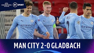 Manchester City v Gladbach (2-0) | De Bruyne Rocket As City Qualify | Champions League Highlights