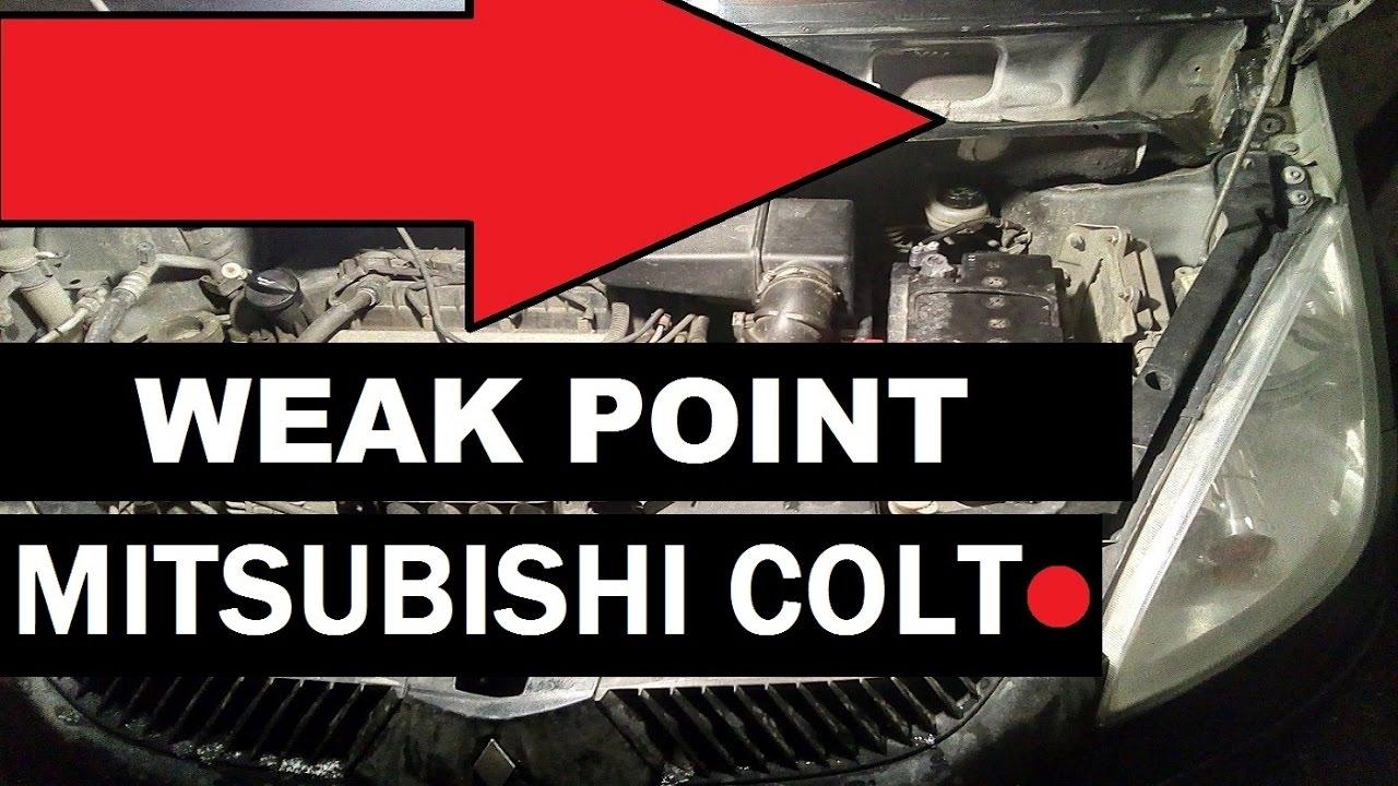 MITSUBISHI COLT weak spot of the body