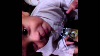 Hilarious kid 11 months. Talking Tom