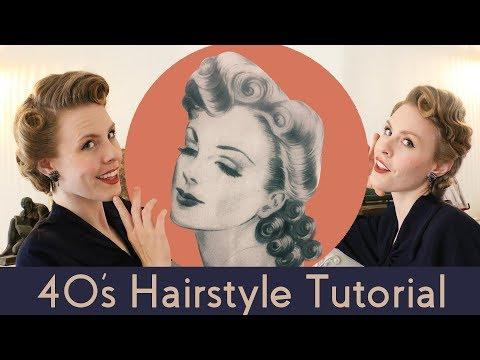 1940s Vintage Hairstyle Tutorial thumbnail