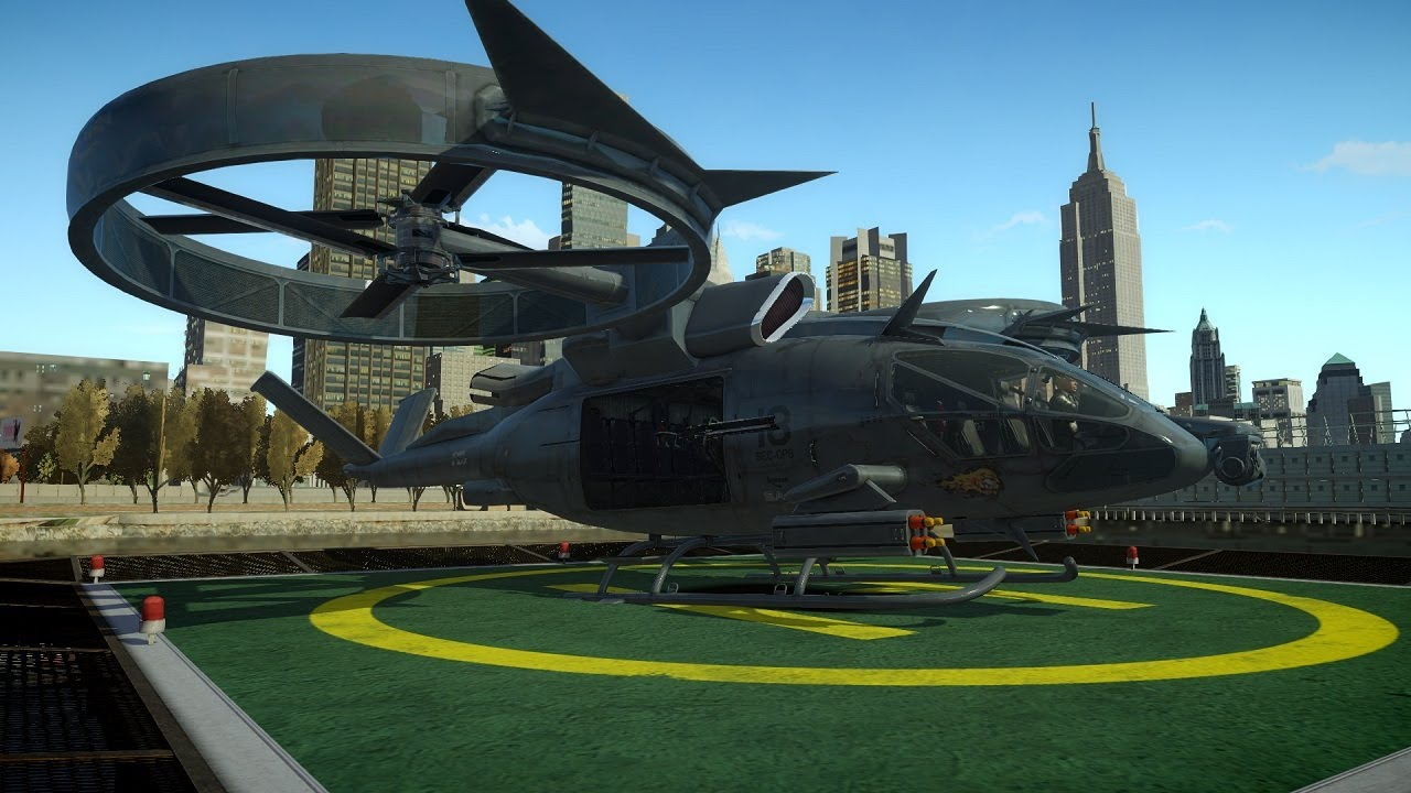 3ds max aerospatiale sa 2 samson helicopter