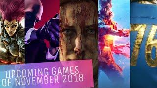 Upcoming Games of November 2018