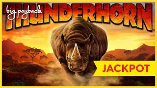 JACKPOT HANDPAY! Thunderhorn Slot - JAW-DROPPING - BIGGEST COMEBACK OF ALL-TIME!