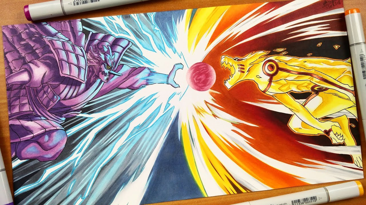 Drawing Susano VS Kurama - Naruto Shippuden - YouTube