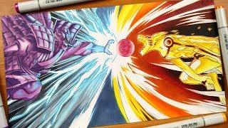 Drawing Susano VS Kurama - Naruto Shippuden