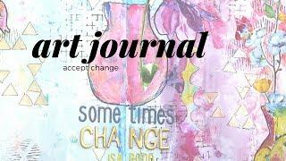 Art Journal - distress oxides and stencils