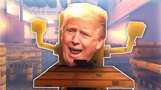 DONALD TRUMP GOES TO SCHOOL - 60 FPS Minecraft Animation Short