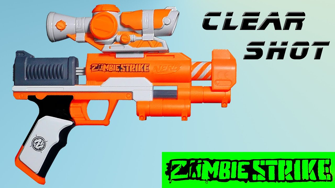Review nerf zombie strike clear shot magicbiber deutsch youtube