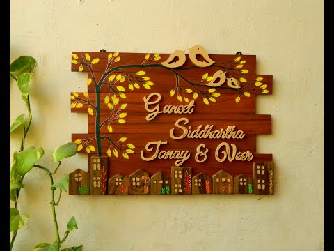 How to make wooden nameplate - handcrafted DIY