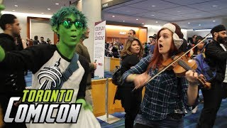 Violin Girl Surprises Cosplayers With Their Themes COMIC CON 2018