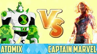 Atomix vs Captain marvel in Hindi || who will win || multiversh
