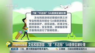 """[中国财经报道]文化和旅游部:7家""""不达标""""5A级景区被处理  CCTV财经"""