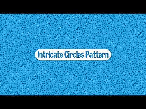 Intricate Blue Circles - Seamless Vector Pattern - Illustrator Tutorial