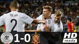 Deutschland U21 vs Spanien U21   1:0 (1:0)   U21-EM 2017 Finale Europa Fußball U21