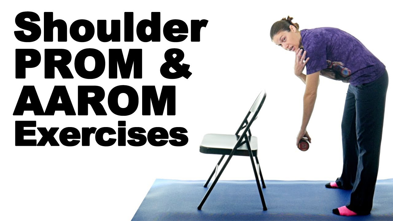 Active Assisted Rom Exercises For Shoulder - Exercise Poster
