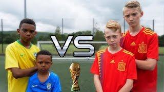 BRAZIL VS SPAIN! Neymar Jr VS Diego Costa! With Kailem