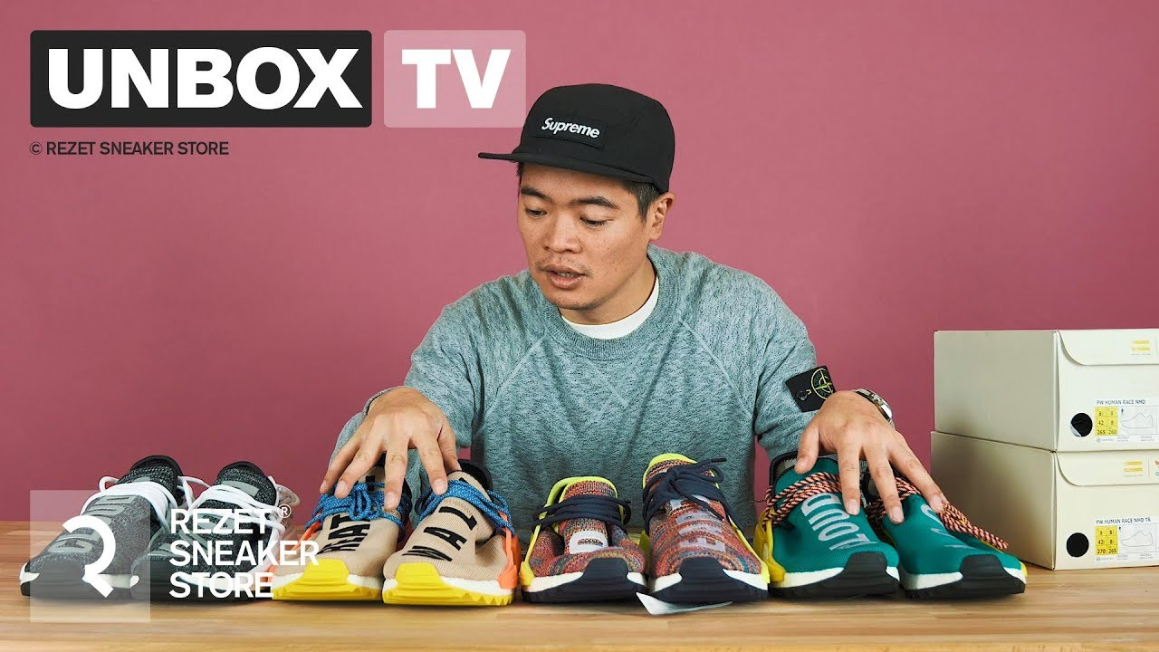 4b5f01890c65 Unboxing - Pharell x adidas NMD Human Race TR ft. Kenneth Nguyen. Rezet  Sneaker Store