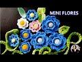 FLORES EM CROCHE MINI FLORES CELESTE -  091