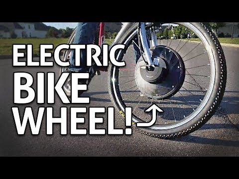 Easy + Cheap eBike!! Motorized Wheel Conversion Kit REVIEW