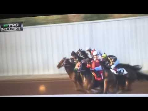 Accident in 2nd Race at Los Alamitos, 3/24/2018