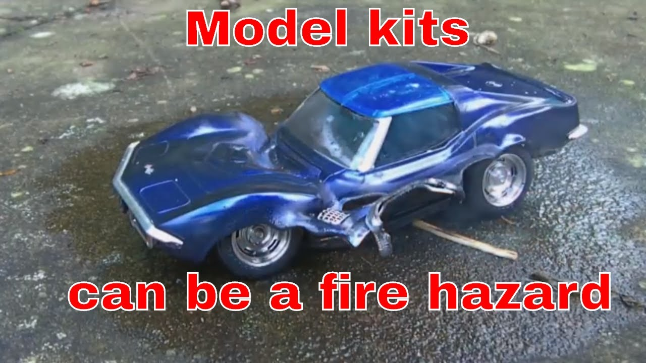 Corvette Stingray Muscle Car Model Kit On Fire Wreckage Youtube