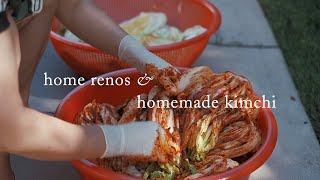Home Renos & Homemade Kimchi   October Vlog