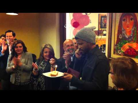 Sharif Atkins Receives Special Birthday Suprise