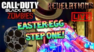 REVELATIONS EASTER EGG STEP 1 KINO DER TOTEN REELS! Black Ops 3 Zombies Revelations EE Gameplay