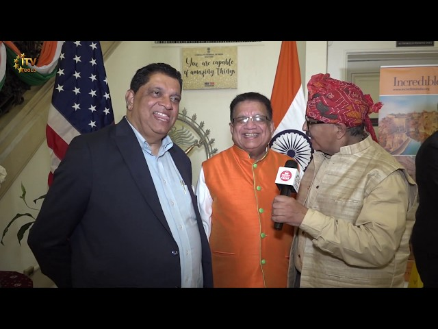 Indian Independence Day Celebrations at New York Consulate - Wide Angle With Ashok Vyas