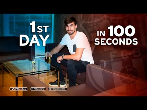 André Gomes' first day at FC Barcelona in 100 seconds