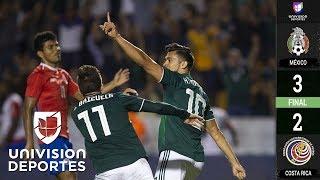 México 3-2 Costa Rica - GOLES Y RESUMEN - Amistoso